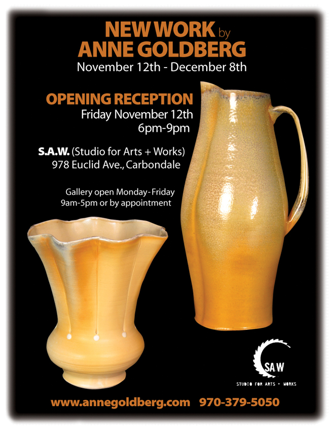 New Work by Anne Goldberg at S.A.W., November 12th - December 8th