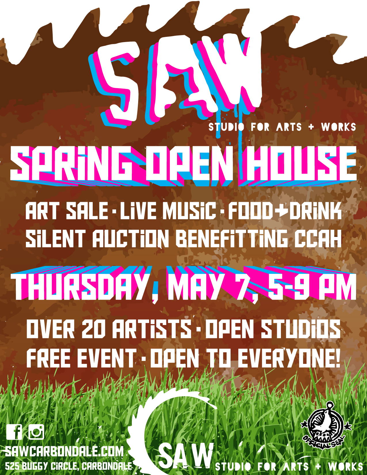Spring Open House Sara From Sincerly Sara D: S.A.W. STUDIO FOR ARTS AND WORKS